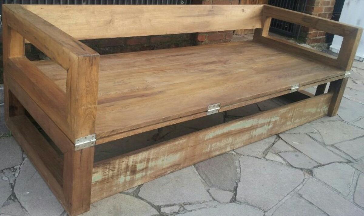 Sof cama madeira demoli o r stico r em for Sofa que vira beliche onde comprar