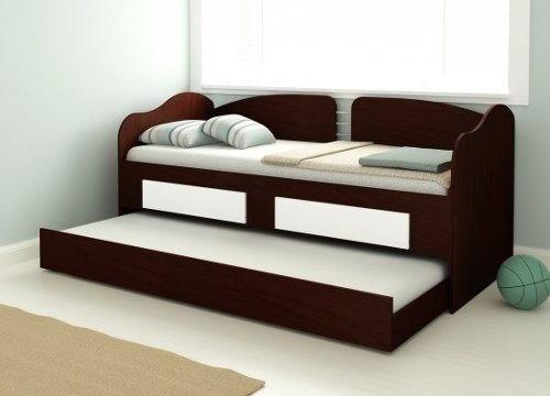 Sofa cama marinera mesa de luz auxiliar dormitorio cuarto for Sofa cama con cajones