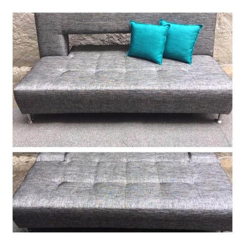 sofa cama matrimonial en tela   +2 cojines