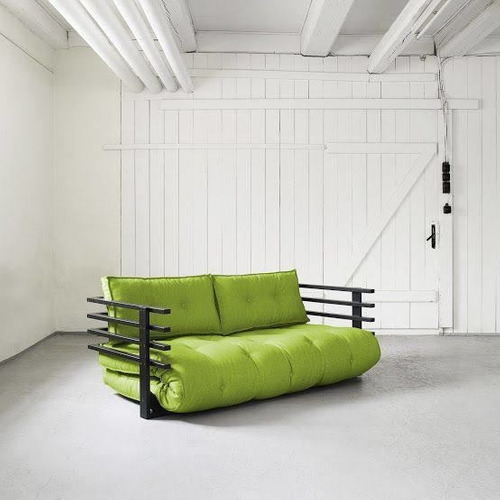 sofá cama matrimonial futón modelo nogal
