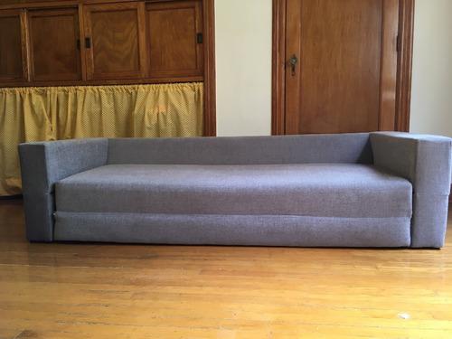 sofa cama matrimonial. gris