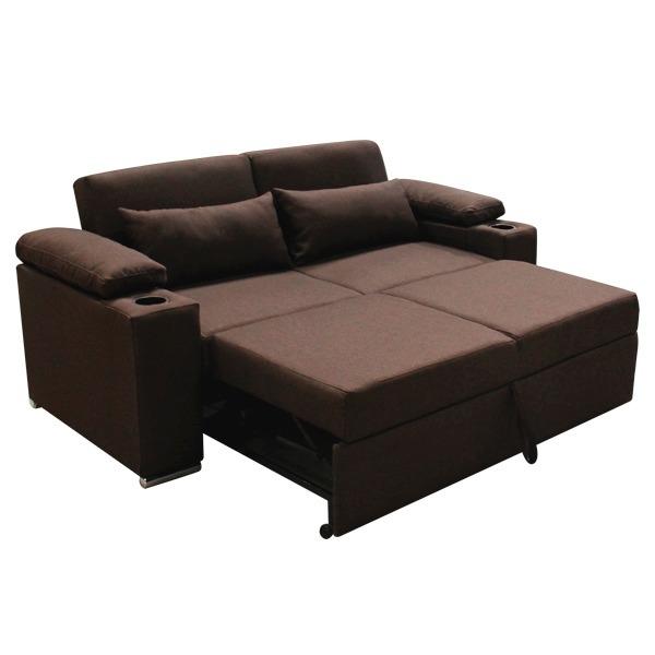 Sofa cama matrimonial moderno en tela mobydec muebles - Sofa cama comodos ...