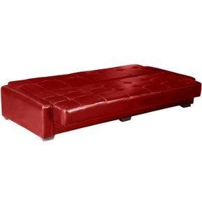 b5636e998 Sofá Cama Melbourne - Ultracuero Rojo Dmuebles - S  1.199