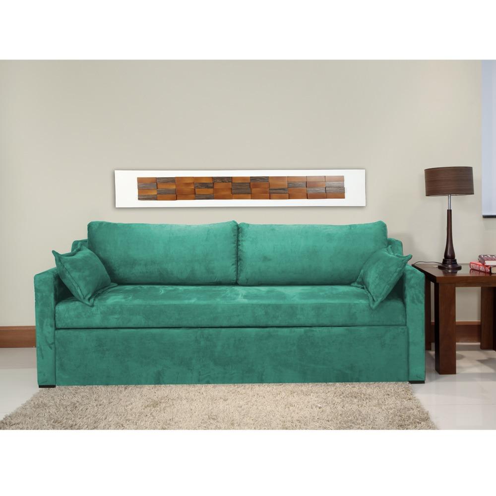 d57416845 Sofá-cama Montana Casal C  2 Almofadas Decorativas