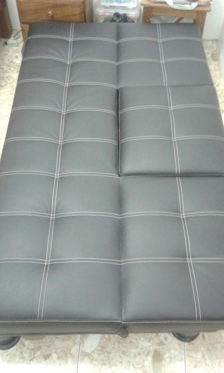 Sofa Cama Negro Con Portavasos Pixys Bs 33 000 00 En Mercado Libre # Muebles Tiendas Pixys