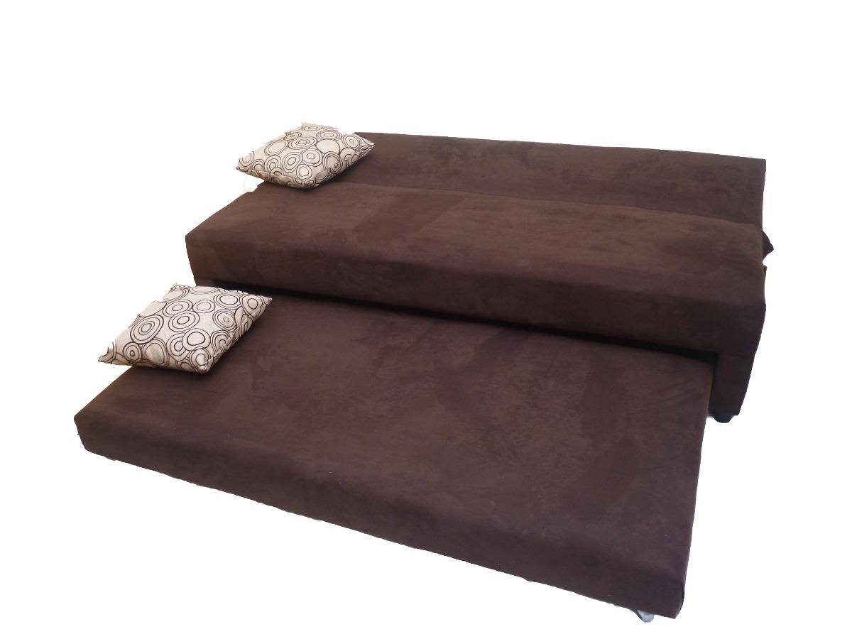 Sofa cama nuevo con cojines de regalo 3 en for Mercado libre sofa camas nuevos