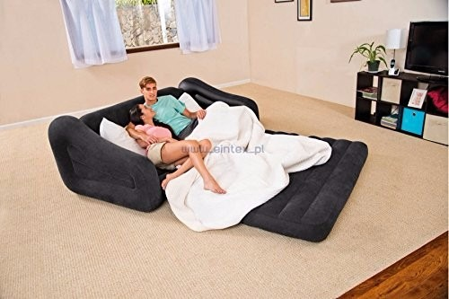 Sofa cama queen matrimonial comodo inflable intex for Cama que se dobla