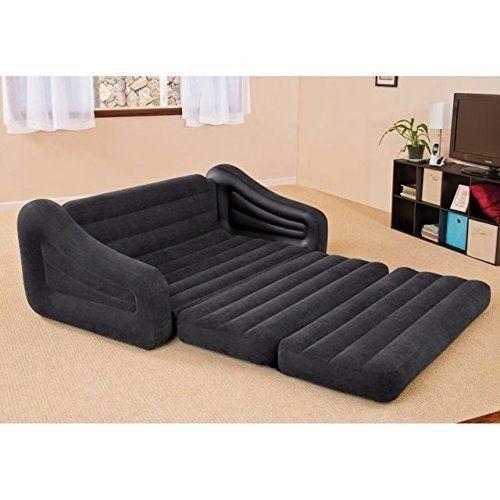 sofa cama queen matrimonial comodo inflable intex