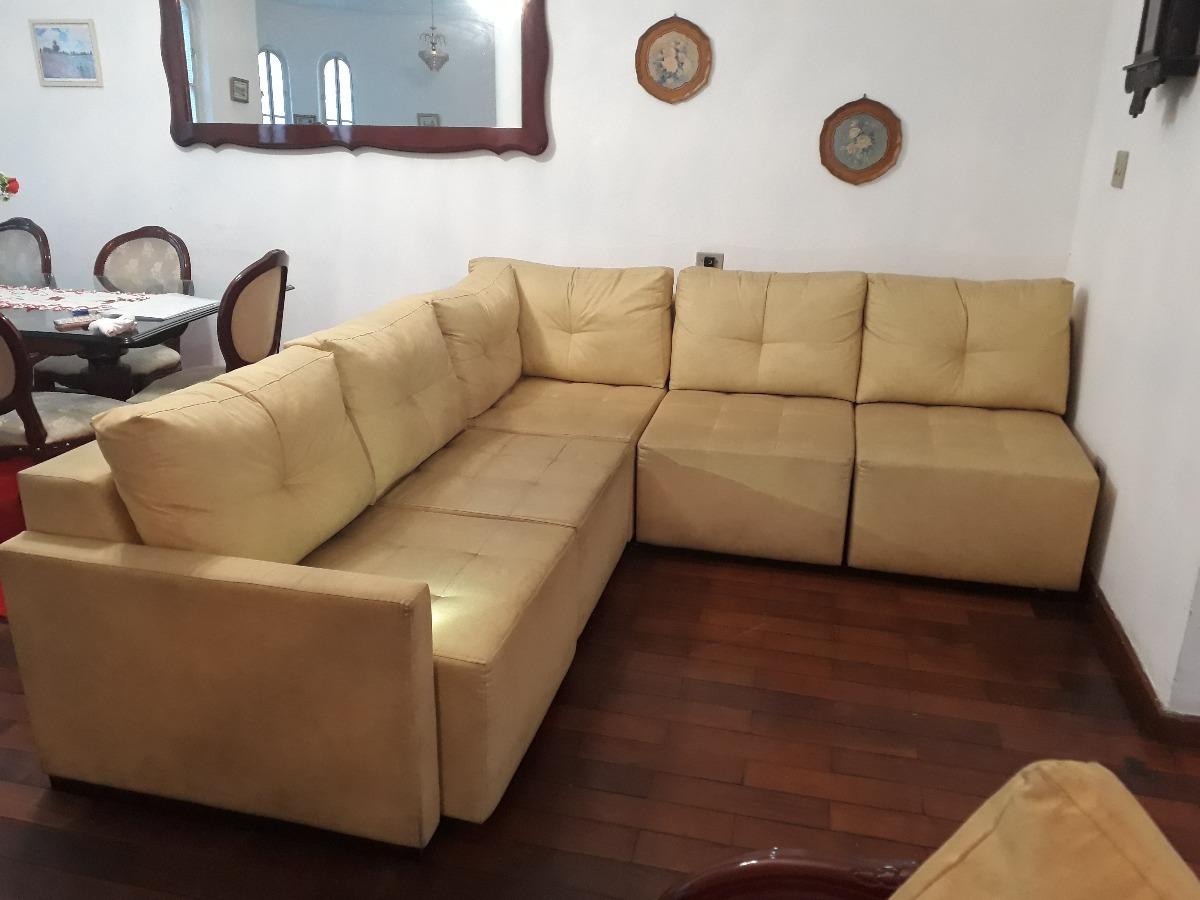 Sofa Cama Retratil Em L Dunelli 8 Lugares R 2 300 00 Em Mercado Livre