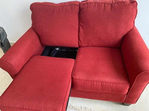 sofá cama rojo individual (twin)