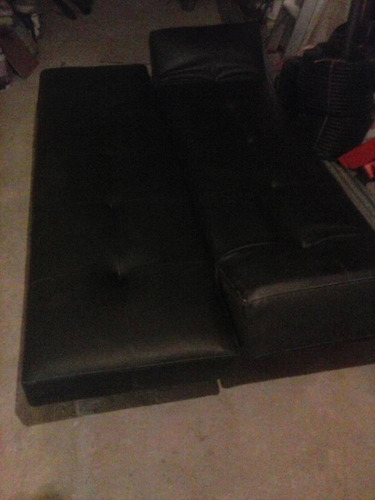sofa cama semi cuero