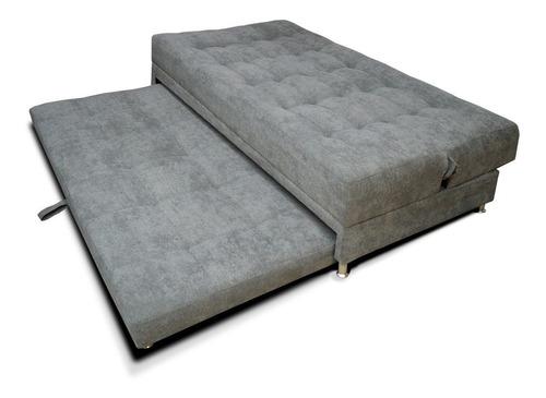 sofá cama tarima brooke tela gris