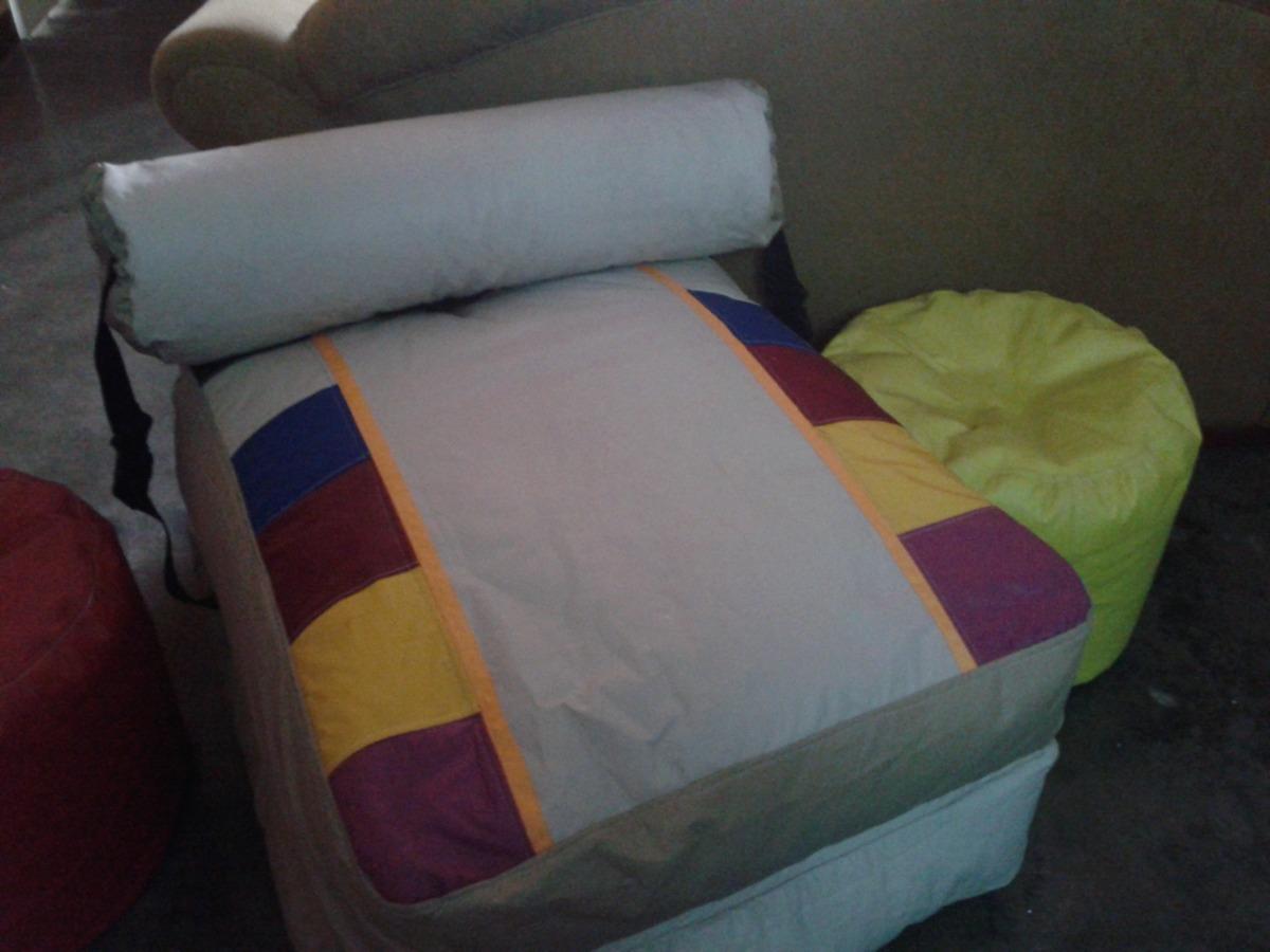 Sofa cama tipo puff indvidual o matrimonial bs for Sofa cama mercado libre