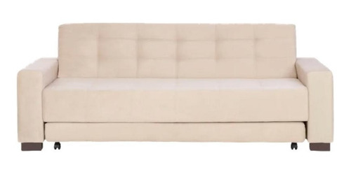 sofa cama tok stok preto 3 lugares