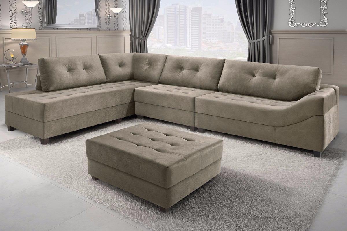 Sofa Canto 2 E 3 Lugares Div 227 Puff Porto Feliz R 3