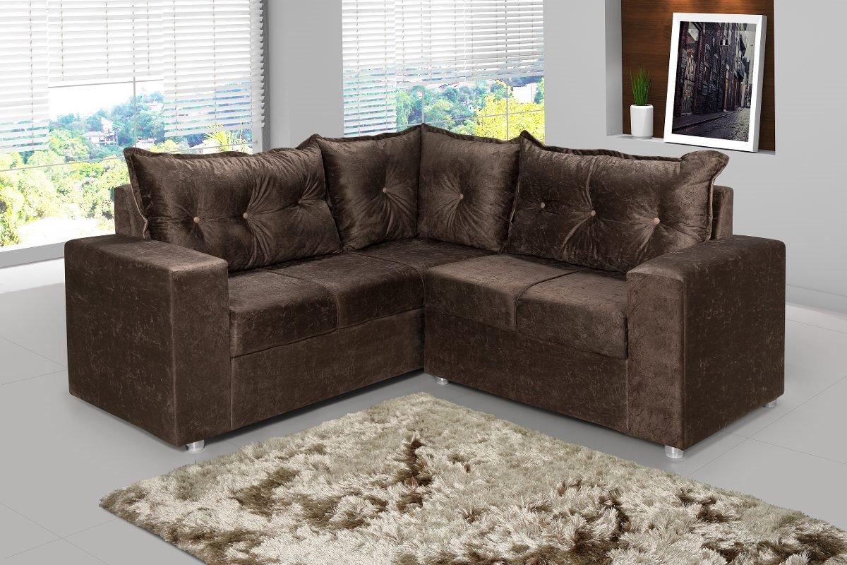 Sofa De Canto Para Sua Sala Com 5 Lugares - Lojas Movz - R$ 955,00 Em  Mercado Livre