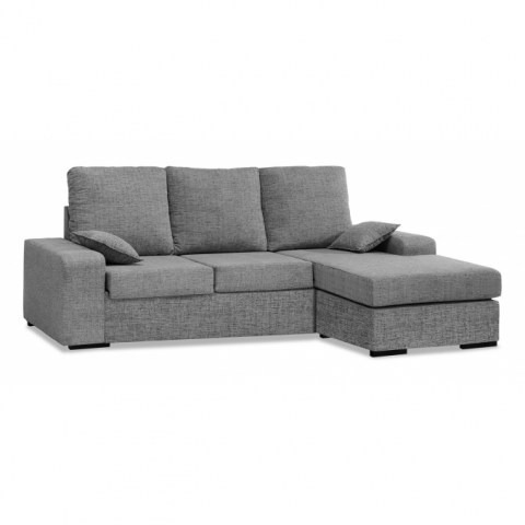 Sofa Chaise Longue Living Tela Anti Mancha Water Repelent