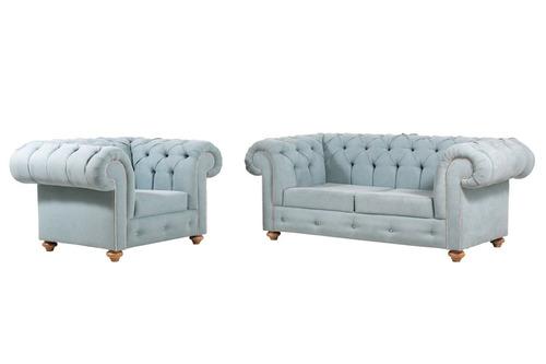 sofá chesterfield clásico mueble sala  juegos de sala
