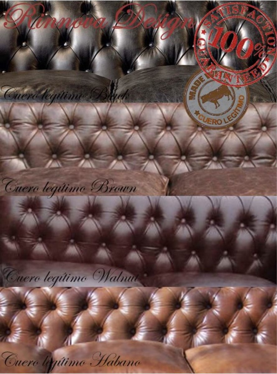 Sofá Chesterfield Oxford En Cuero Legítimo By Rinnova Design ...