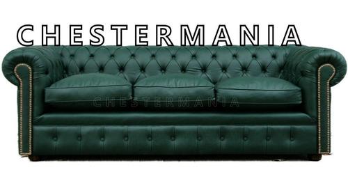 sofa chesterfield sillon chester 3 cuerpos armado artesanal