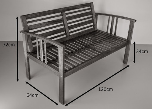 sofá colonial florida madeira maciça, banco namoradeira
