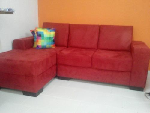 sofá com chaise mv estofados