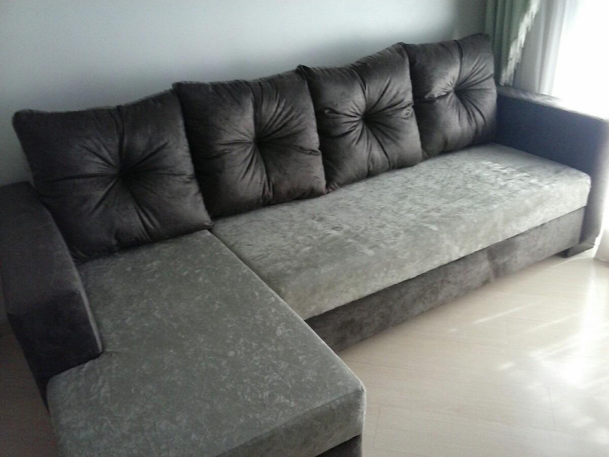 sofa com cheese no suede r em mercado livre. Black Bedroom Furniture Sets. Home Design Ideas