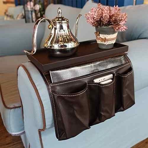 sofa couch remote control holder- chair armrest caddy organ