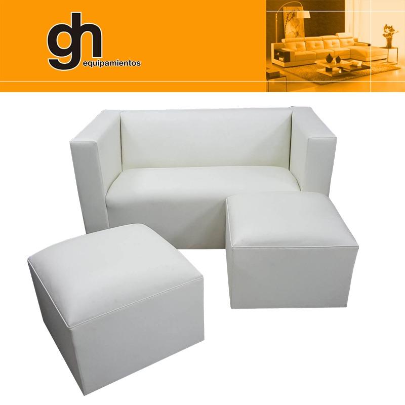 Sofa de 2 cuerpos minimalista con 2 cubos muy comodo gh en mercado libre - Sofas muy comodos ...