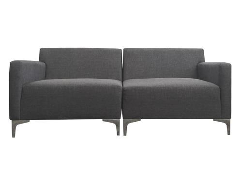 sofá de 2 plazas gris obscuro-se-lo2