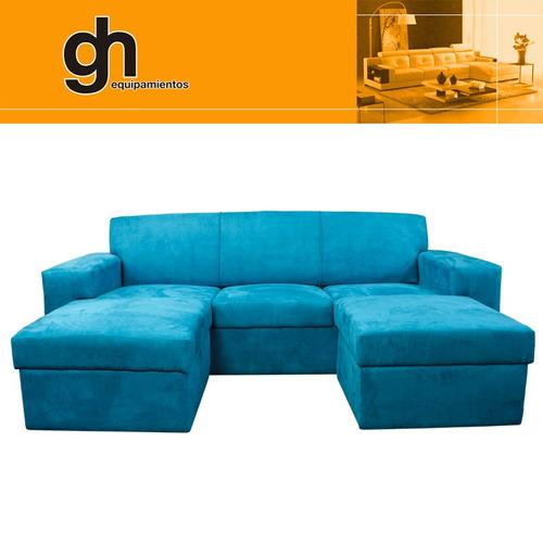 Sofa de 3 cuerpos con 2 islas formando chais longue cama for Sofa cama de 2 cuerpos