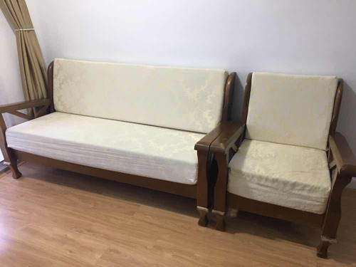 sofá de 3 lugares e poltrona
