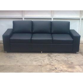 Sofa De 3 Puestos Capry  Poltronas Cojines Camas Tela Bipiel