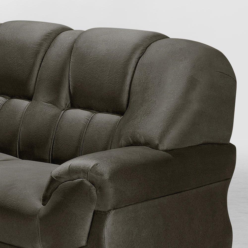 304c88f4f sofá de canto 3 e 2 lugares marrom caribe leppos. Carregando zoom.