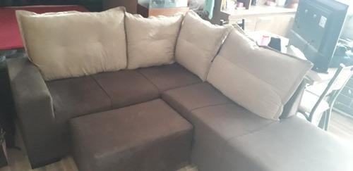 sofa de canto almofadas dupla face