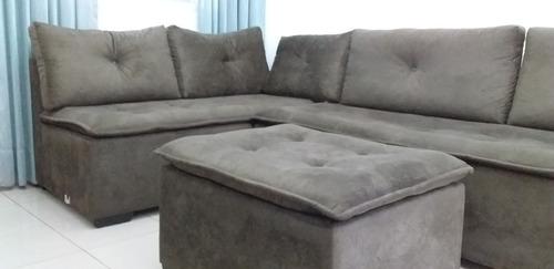 sofa de canto marrom escuro em òtimo estado conservação