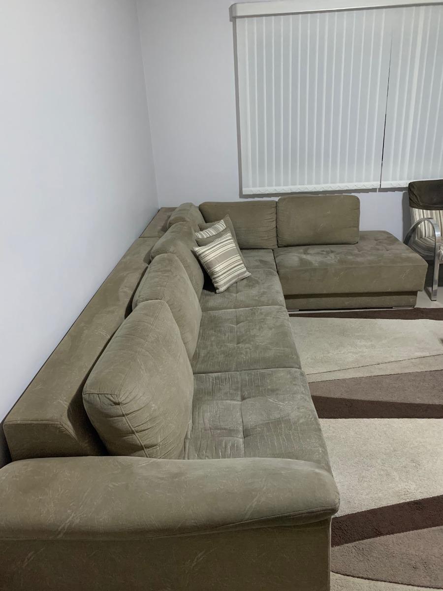 Sofa De Canto Retratil Com 3 Lugares + 1 Chaise. Promoção ...