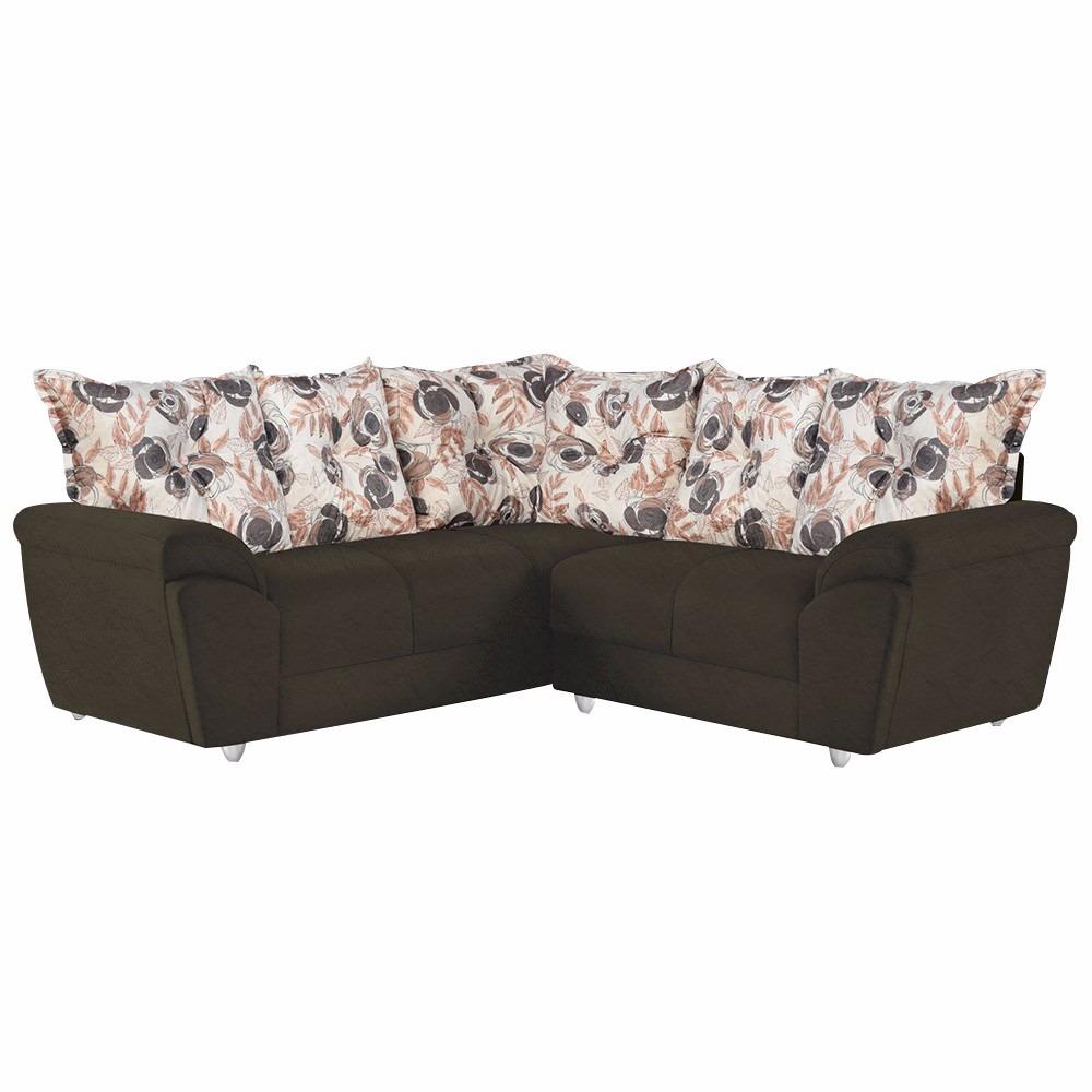 Sof de canto umaflex toronto com 4 lugares em tecido for Casas de sofas en valencia