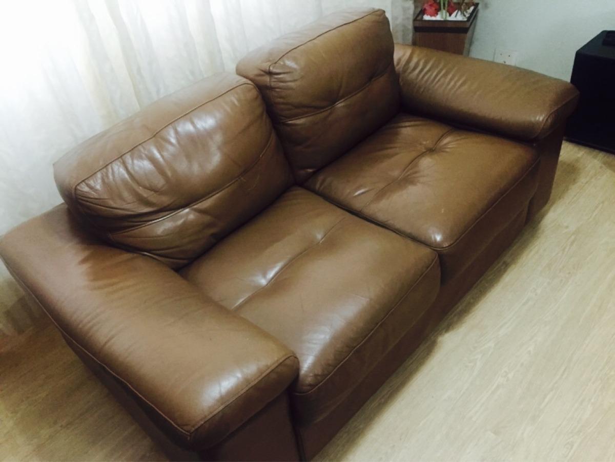 Sof de couro 3 e 2 lugares usado r 990 80 em mercado - Compro sofas usados ...