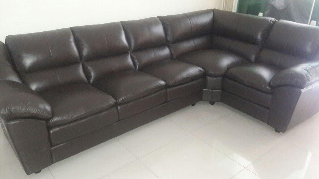 sofa de couro completo dallas 3 e 1 lugares canto r 6 491 67