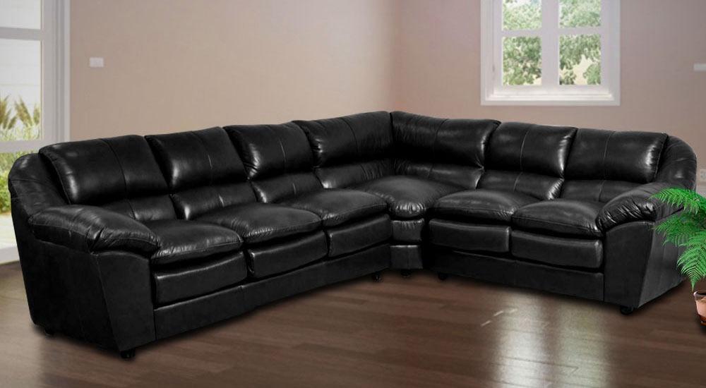 Sofa De Couro Completo | Dallas 3 E 1 Lugares + Canto - R ...