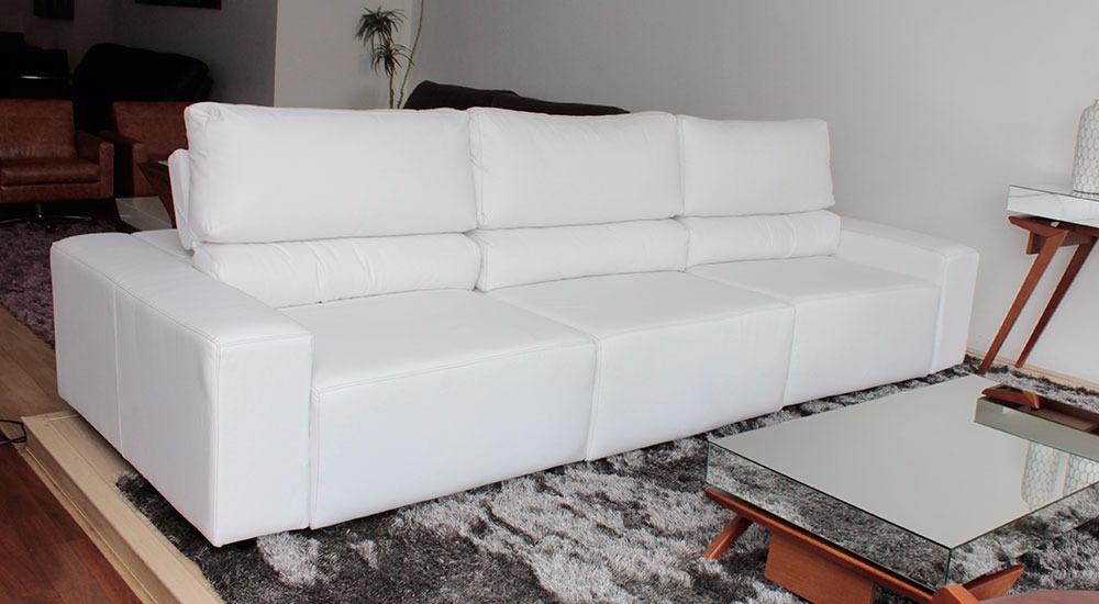 Sofa De Couro Retratil E Reclinavel 3 Modulos | Bali - 3 ...