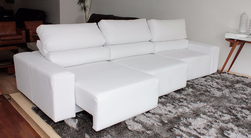 sofa de couro retratil e reclinavel 3 modulos | bali - 3,20m