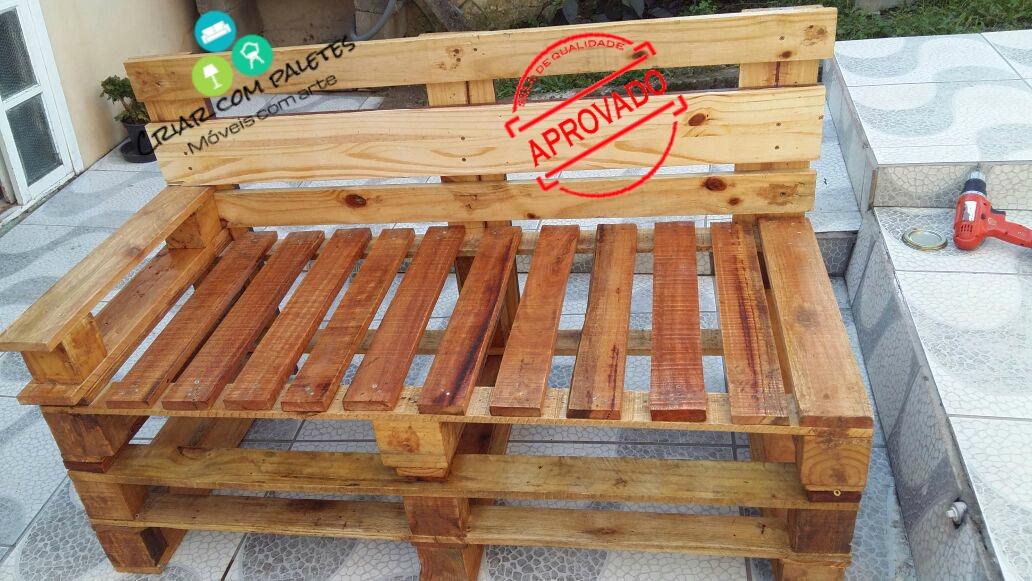 Sofá De Paletes Banco De Paletes Decoraç u00e3o Casa Jardins R$ 599,00 em Mercado Livre -> Decoração Para Jardins Com Paletes