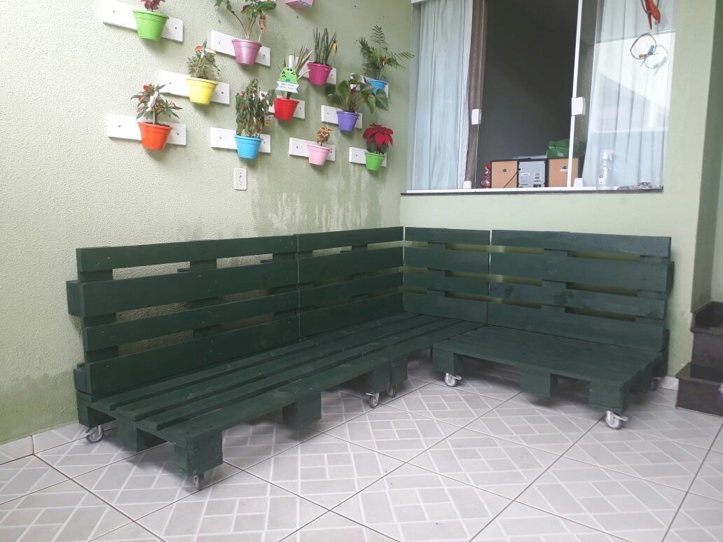 Sofá De Pallet Em L - R$ 1.599,00 em Mercado Livre