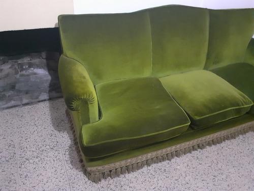 sofa de pana 3 cuerpos estilo inglés
