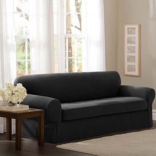 sofá de sofá de 2 piezas, de carbón vegetal