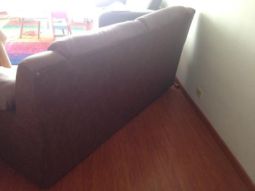 sofa dos puestos en cuero color morrón busquen me en olx