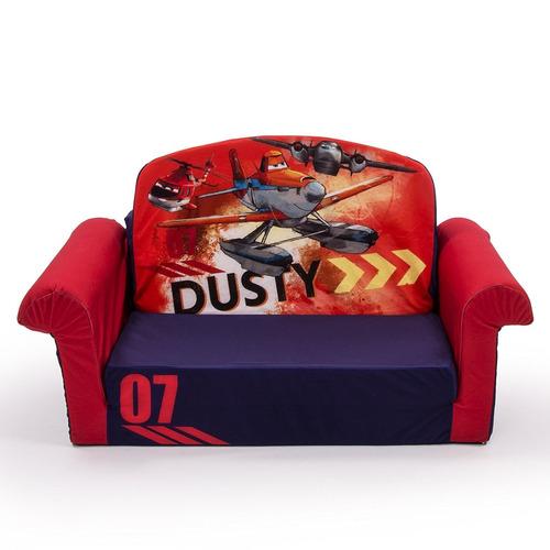 sofá espuma tapizado niños decoración habitación aviones