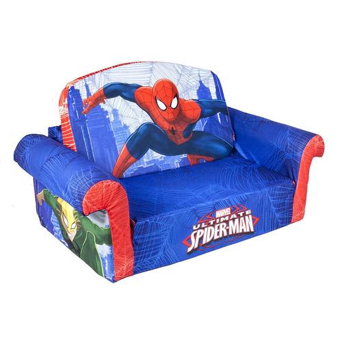 sofá espuma tapizado niños decoración habitación spiderman